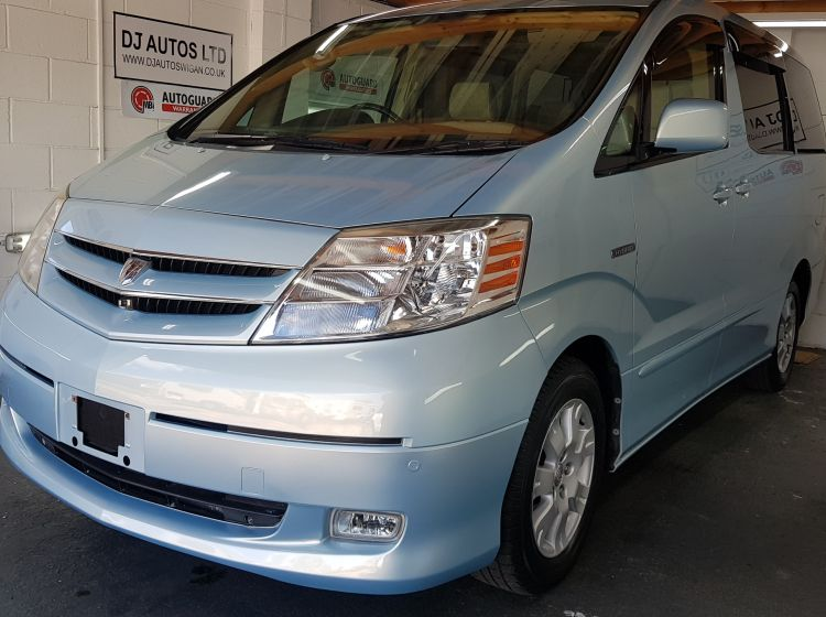 now sold thanks!!!!!!!Toyota Alphard 2.4 hybrid light bue automatic 4wd 2003 *only 47000 miles* px welcome excellent alround condition 6 months warrant