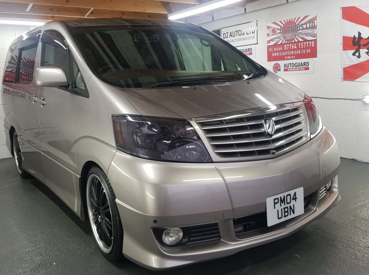 now sold thanks!!!!!!!Toyota Alphard 3.0 grey petrol automatic 8 seater MPV sunroofs 43k miles	excellent condition px and finance 6 months warranty