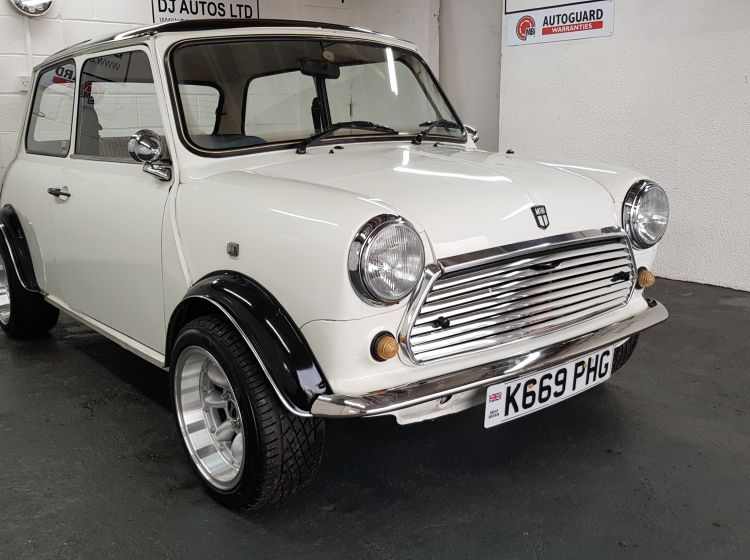 now sold thanks!!!!!!!Rover MINI MAYFAIR white 1300 engine fitted low mileage 1992 still as old 1000cc in v5 easy to change over