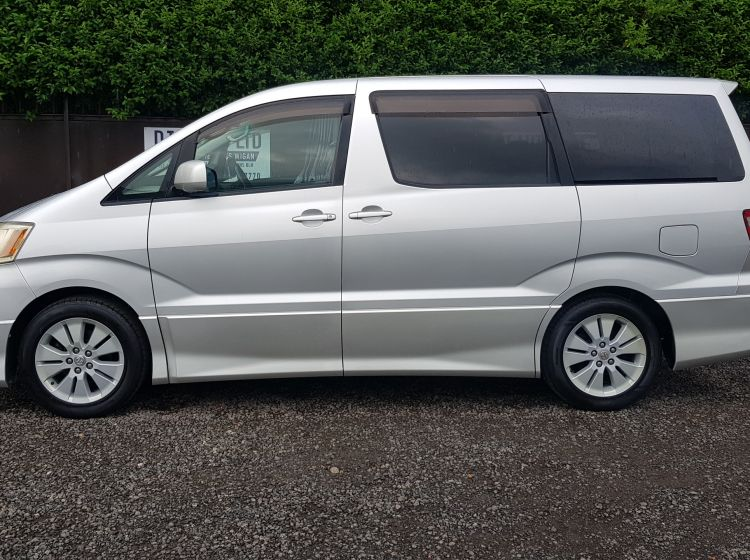 now sold thanks!!!!!!Toyota Alphard 2.4 silver petrol automatic 8 seater MPV jap import 4-b in stock	px welcome excellent condition