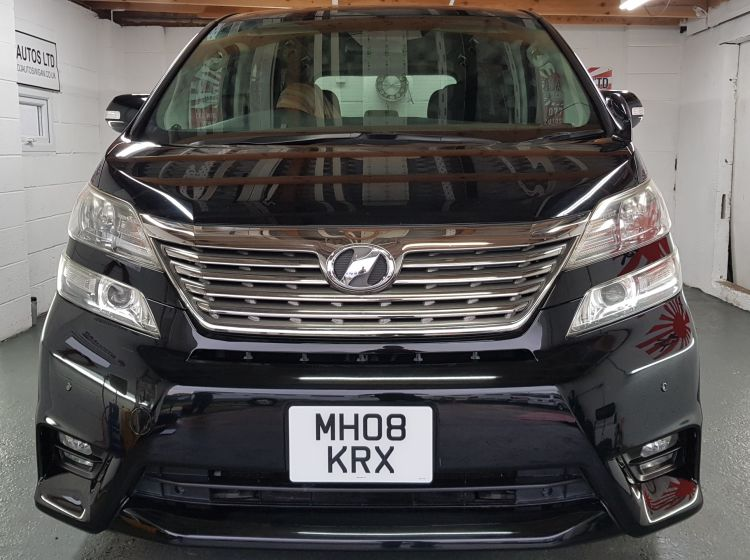 now sold thanks!!!!!Toyota vellfire like Alphard 2.4 black petrol automatic fresh import in stock 08-8 seater px and finance poss nationwide warranty