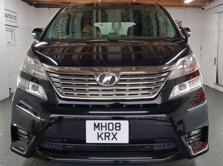 Toyota vellfire like Alphard 2.4 black petrol automatic fresh import in stock 08-8 seater px and finance poss nationwide warranty