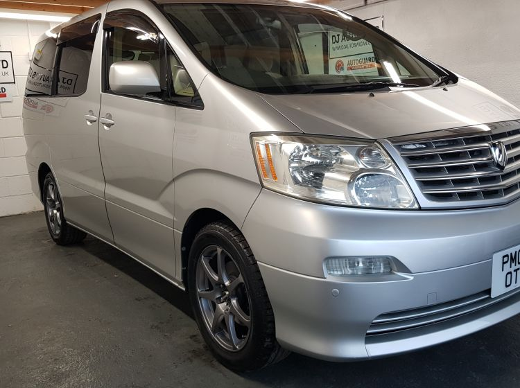 now sold thanks!!!!!!Toyota Alphard 2.4 silver petrol automatic 8 seater MPV japanese import px welcome excellent alround condition 6 months warrany