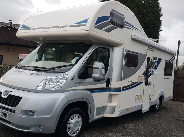 bailey approach 760 se motorhome 6 berth 6 seatbelts 1 owner 	3500kg excellent alround condition extras 2013