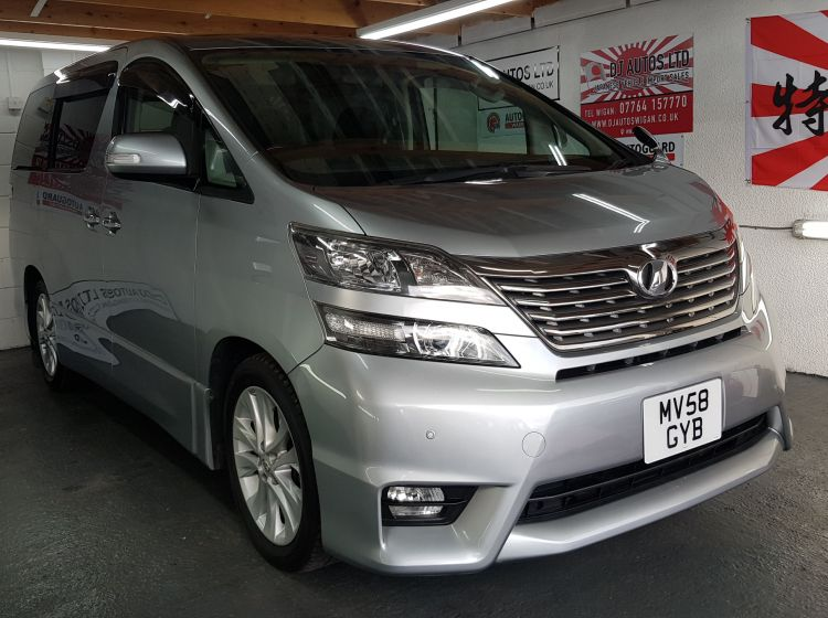 Toyota vellfire like Alphard 2.4 silver petrol automatic fresh import in stock dvd screens rear reclining seats 2008
