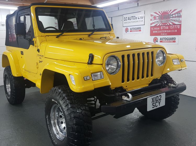 now sold thanks!!!!!!!!!Jeep Wrangler 4.0 manual sport lifted yellow jap import rust free in stock excellent condition px poss