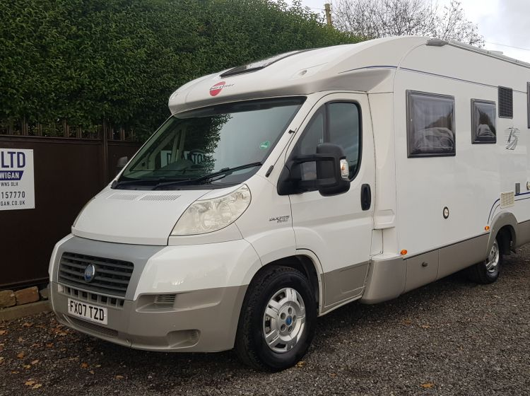 burstner solano t 695 garage motorhome 4 seatbelts solar pannel new clutch recent new timing belt- 3/4 berth -px poss