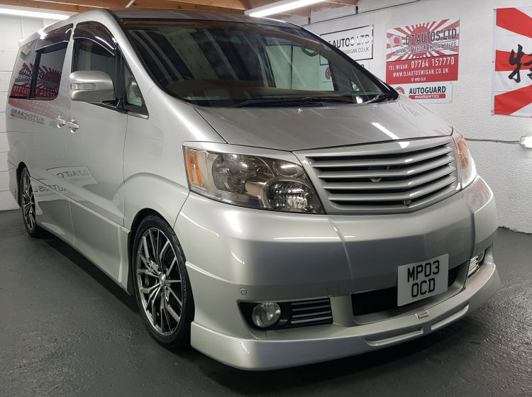 now sold thanks!!!!!!!!Toyota Alphard 3.0 silver petrol automatic 7 seater loaded with extras in stock new timing belt alloys, leather heated front seats expensive alloys