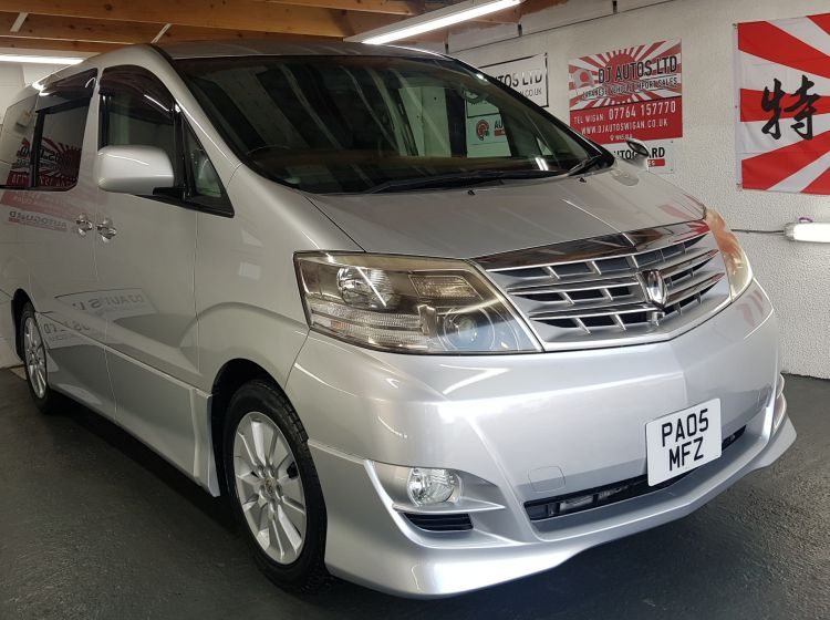 now sold thanks!!!!!!!Toyota alphard 2.4 petrol auto silver 8 seater 2005 fresh import in stock Top class condition px and finance 6 months warranty