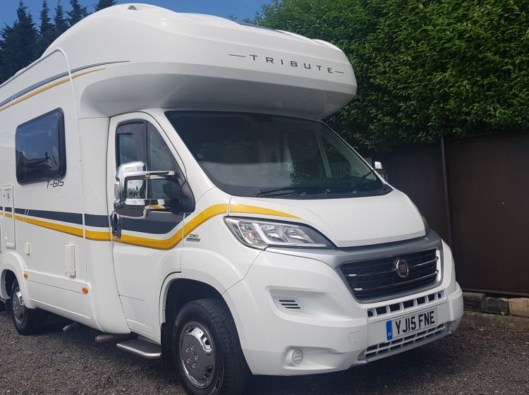now sold thanks!!!!!!!AUTO TRAIL TRIBUTE T 615 motorhome auto 2 berth loaded with expensive extras 12k miles fsh bike rack/roof sat dome/solar panel/towbar etc