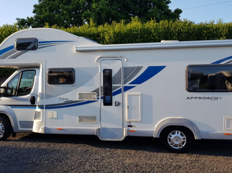now sold thanks!!!!!!bailey approach 760 se motorhome 6 berth 6 seatbelts u shape lounge 2013 fsh 2 keys excellent condition px and finance welcome