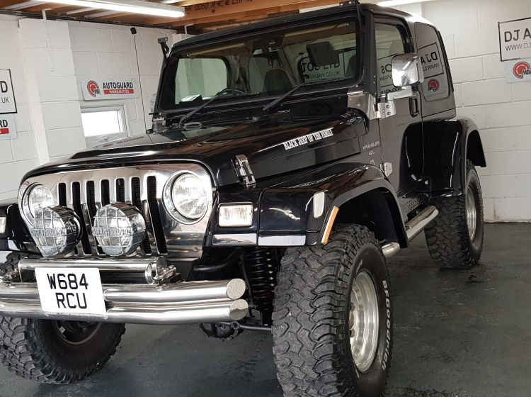 now sold thanks!!!!!Jeep Wrangler 4.0 auto Sahara lifted black fresh import rust free would suit off road use or collecters vehicle