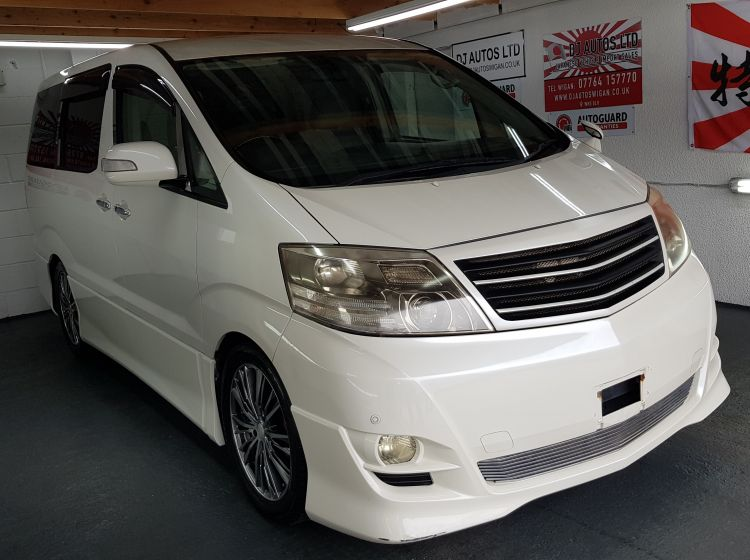 Toyota Alphard 2.4 white petrol automatic 8 seater mpv japanese import 2006 in stock- please quote 142