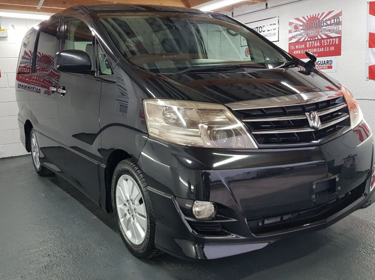 Toyota Alphard 2.4 black petrol automatic 8 seater mpv japanese import corrosion free in stock 58k miles excellent condition quote 73