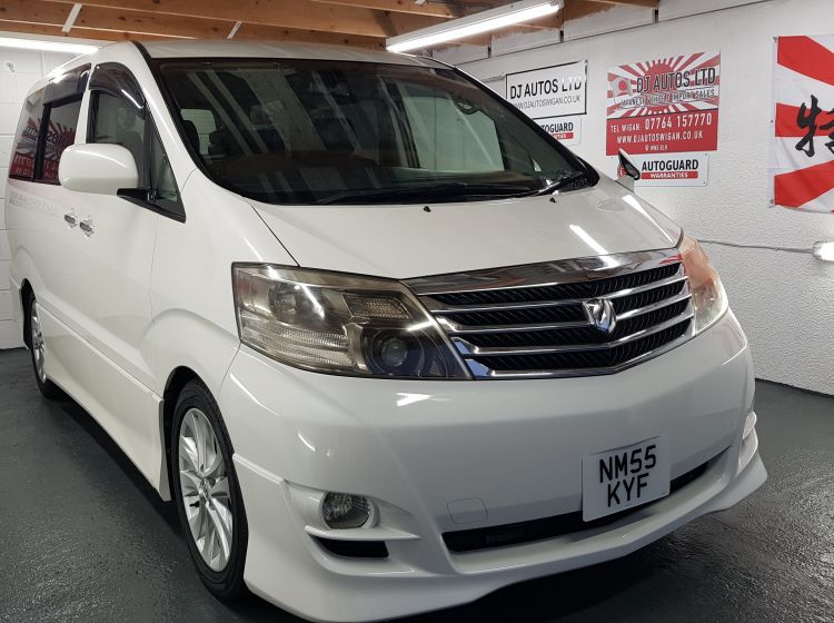 Toyota Alphard 2.4 white petrol automatic 8 seater mpv japanese import 4 grade in stock excellent condition 66k miles quote 79