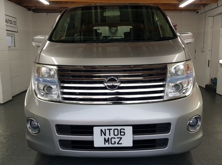 now sold thanks!!!!!Nissan Elgrand 2.5 automatic 8 seater silver MPV corrosion free japanese import in stock 2 x elec doors /dvd player quote 88