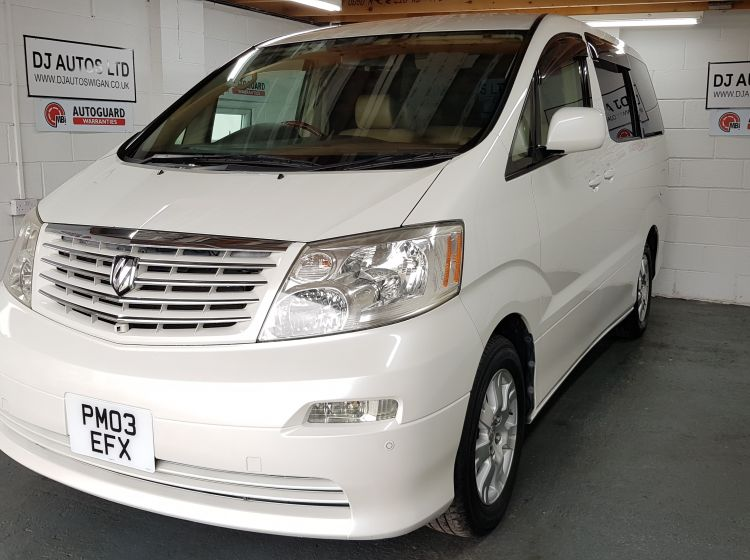NOW SOLD THANKS!!!!Toyota Alphard 2.4 white petrol automatic 8 seater MPV px welcome excellent condition px and finance avalible