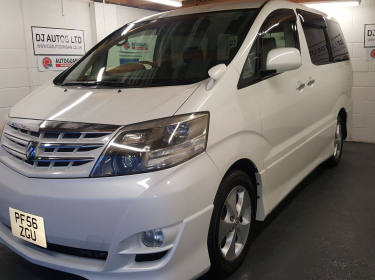 now sold thanks!!!!!!Toyota Alphard 2400cc petrol 8 seater top class import in stock 56 plate-px welcome you wont find a better example