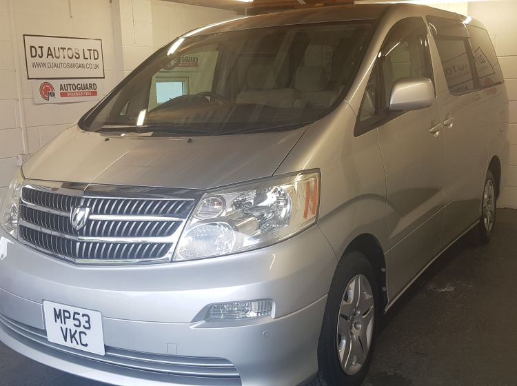 now sold thanks!!!!!!Toyota alphard 2.4 petrol mpv auto silver jap import 8 seater 2003 top class -px welcome with 6 months warranty *only 28000 miles*