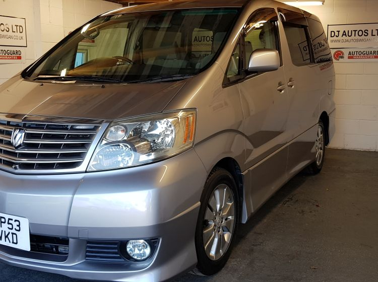 now sold thanks!!!!!!!Toyota alphard 2.4 petrol mpv auto silver jap import 8 seater 53 plate rust free px welcome excellent alround condition only 54000 miles