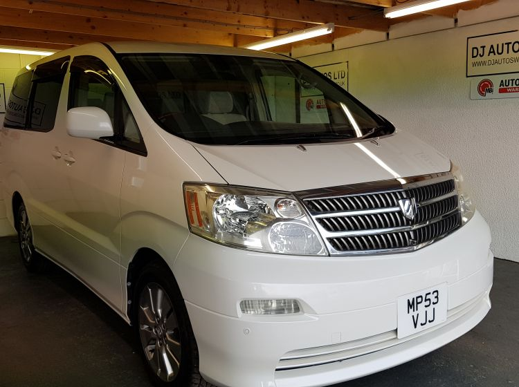 now sold thanks!!!!!!Toyota alphard 2.4 petrol mpv auto white jap import 8 seater 2004 *23000 miles	px and finance 6 months warranty excellent condition