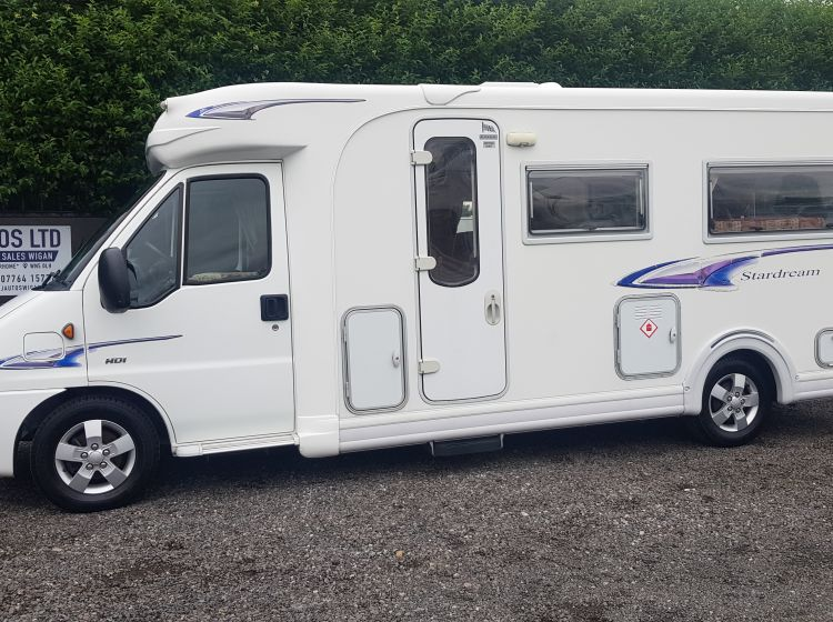autocruise stardream 2.2 d 2 berth 2 seatbelts motorhome u shape lounge  only 22000 miles 56 plate