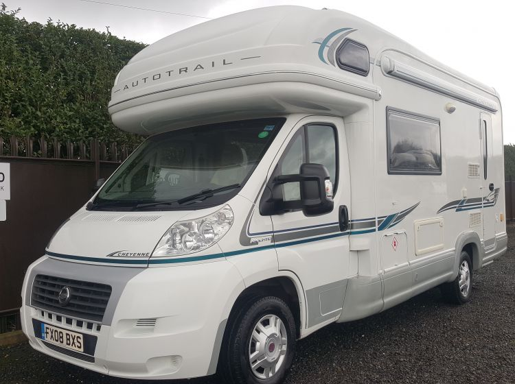 now sold thanks!!!!!!!!AUTO-TRAIL cheyenne 630 motorhome 2.3 diesel 4 Berth 2008-top class sat dish fitted -new timing belt full service and pro valet -px/ welcome