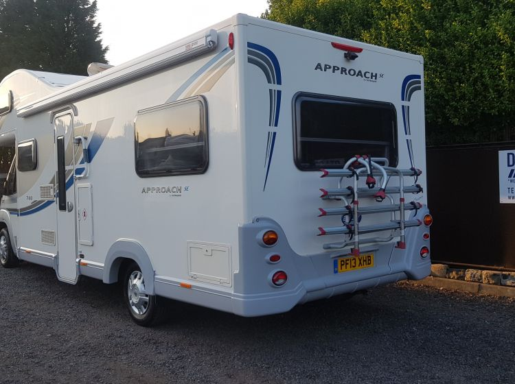 now sold thanks!!!!!!bailey approach 760 se motorhome 6 berth 6 seatbelts 1 owner  excellent alround condition extras 2013