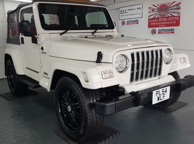 now sold thanks!!!!!!!Jeep Wrangler 4.0 auto white jap import new tyres rust free in stock 2005 excellent condition px and finance 3 months warranty