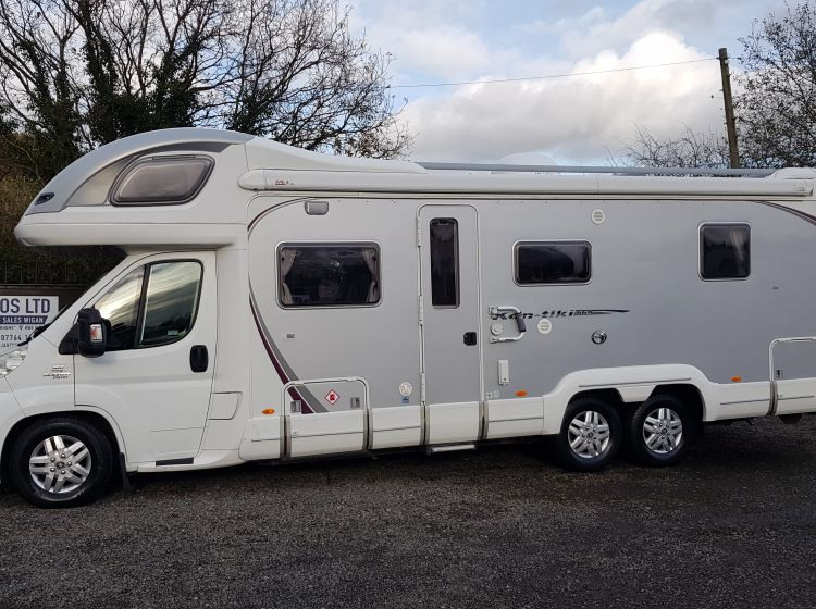 swift kontiki 669 motorhome 3.0 diesel 6 berth 4 seatbelts tag axle extras 2008 	solar panel -towbar-reverse camera roof dome untested