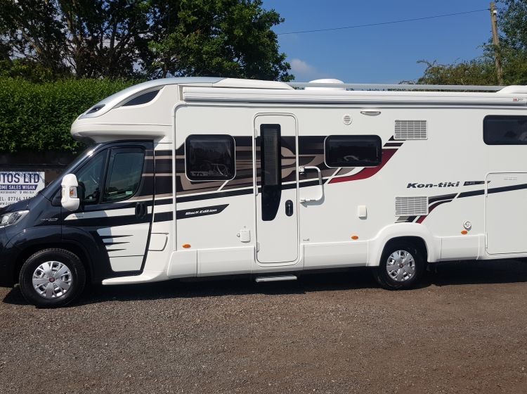 now sold thanks!!!!!Swift kontiki 635 black edition 4 berth motorhome garage fixed rear bed 2016 excellent condition px and finance 6 months warranty