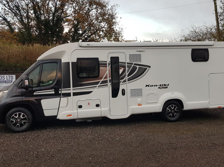 SWIFT KON-TIKI SPORT 597 4 berth 4 seatbelts garage only 975 miles 2 months old As new condition px and finance welcome