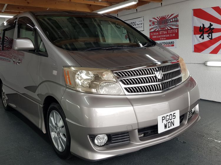 Toyota Alphard 2.4 petrol automatic grey 8 seater jap import only 42k in stock dvd drop down screen/ eletric side door 3 keys